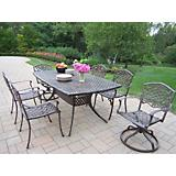 Oxford Mississippi 7pc Dining Set w/ Swivel Chair