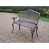 Tea Rose Cast Aluminum Love Seat Bench
