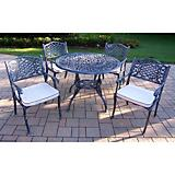 Tea Rose 42Inch 5pc Dining Set with Cushions