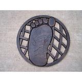 Stepping Stone Left Foot Cast Aluminum Antique Brz