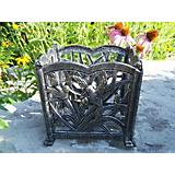 Hummingbird  Square Flower Pot Cast Aluminum