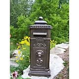 Cast Aluminum Kensington Mail Box Antique Bronze