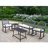 Rochester 5pc Rocker Seating Set with Cushions