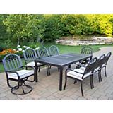 Rochester 9pc Dining Set w/ 2 Swivels and Cushions