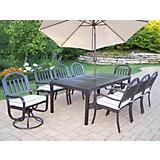 Rochester 9pc Dining Set w/ 2 Swivel n Umbrela