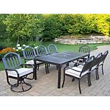 Rochester 80Inx40In 9pc Dining Set with 2 Swivels