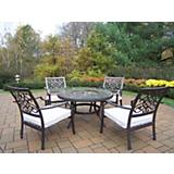 Stone Art Deep Seating 5pc Chat Set with Cushions