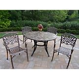 Stone Art 48Inch Mississippi 5pc Dining Set