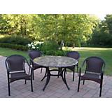 Stone Art 48Inch 5pc Tuscany Dining Set