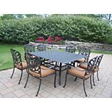 Hampton 9pc Sq Dining Set with Sunbrella Cushions