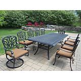 Hampton 11pc Dining Set with Sunbrella Cushions