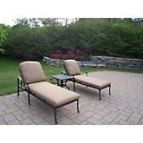 Hampton 3pc Chaise Lounge Set with Cushions