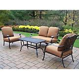 Hampton 4pc Chat Set with Sunbrella Cushions