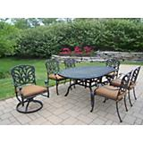 Hampton 7pc 72x42 Dining Set w/ Sunbrella Cushions