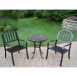 Stone Art Rochester 3pc Bistro Set
