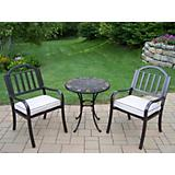 Stone Art Rochester 3pc Bistro Set with Cushions