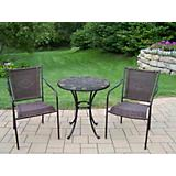 Stone Art Wicker 3pc Bistro Set