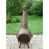 Leaf Chimenea Antique Pewter
