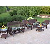 Resin Wicker 6pc Seating Set with Cushions