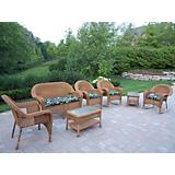 Resin Wicker 7pc Seating Set with Cushions
