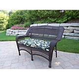 Resin Wicker Aluminum Frame Loveseat with Cushion