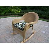 Resin Wicker Rocker with Cushion