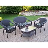 Elite Resin Wicker 4pc Seating Set with Cushions