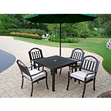 Rochester 5pc Set w/ Cushions and Umbrella