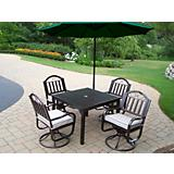 Rochester 5pc Dining Set w/ Cushion/Umbrella