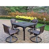 Rochester Tuscany 40Inx40In 5pc Swivel Dining Set