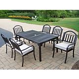 Rochester 67In x 40In 7pc Dining Set with Cushions