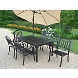 Rochester 7pc Dining Set w/ Umbrella and Stand