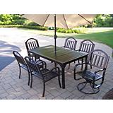 Rochester 7pc Set w/ 2 Chair Umbrella n Stand