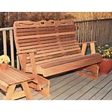 Cedar Royal Country Hearts Rocking Glider 4Ft