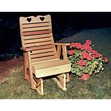 Cedar Royal Country Hearts Glider Chair