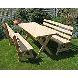 Cedar Picnic Table with Backed Benches