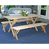 Red Cedar 27In Picnic Table w/ Detached Bench