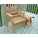 Cedar Country Hearts Patio Chair