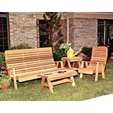 Cedar Twin Ponds Bench and Chair Collection