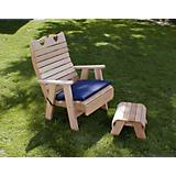 Cedar Country Hearts Patio Chair and Footrest Set