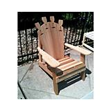 Cedar Wine Glass Adirondack Chair