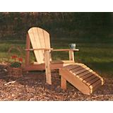 Cedar Adirondack Chair and Footrest Set