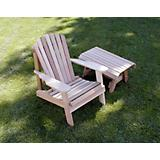 Cedar American Forest Adirondack Chair Table Set