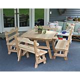Cedar Four Square Dining Set