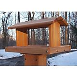 Stovall Wood Standard Post Mount Feeder