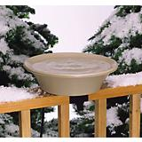 API Heated Bird Bath W/ Ez Tilt Deck Mount N Pole