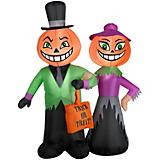 Gemmy Halloween Airblown Inflatable Pumpkin Couple