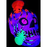 Gemmy Halloween Light Show Skull with Spiders