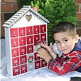 Home Bazaar Holiday Heart Advent Calendar White