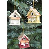 Cottage Birdhouse Ornament Set Multi Color